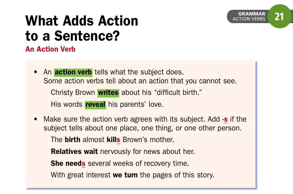 what are action verbs